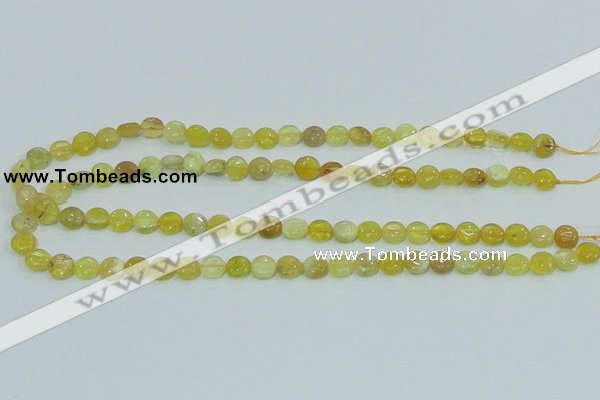COP358 15.5 inches 8mm coin yellow opal gemstone beads wholesale