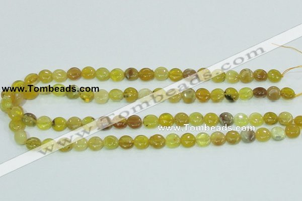 COP359 15.5 inches 10mm coin yellow opal gemstone beads wholesale