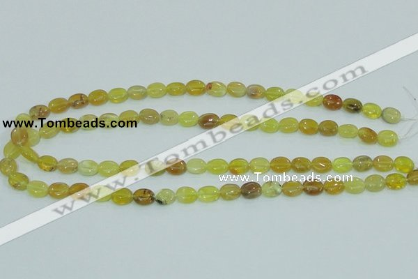 COP360 15.5 inches 8*10mm oval yellow opal gemstone beads wholesale
