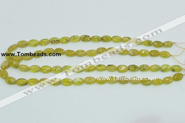 COP361 15.5 inches 9*12mm oval yellow opal gemstone beads wholesale
