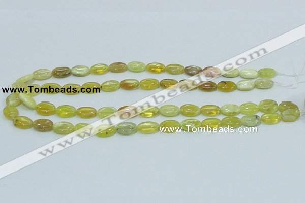 COP362 15.5 inches 10*14mm oval yellow opal gemstone beads wholesale
