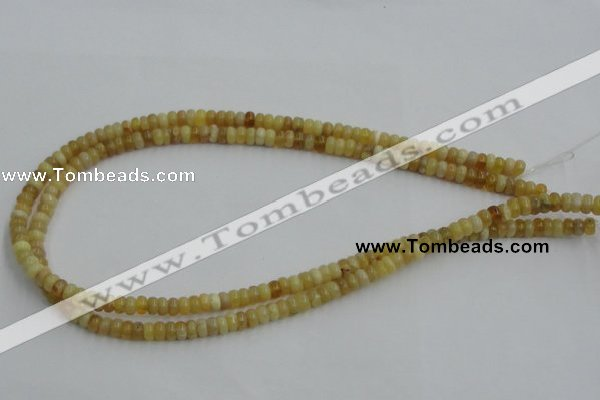 COP370 15.5 inches 4*6mm rondelle yellow opal gemstone beads