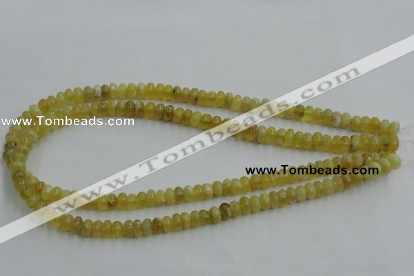 COP371 15.5 inches 5*8mm rondelle yellow opal gemstone beads