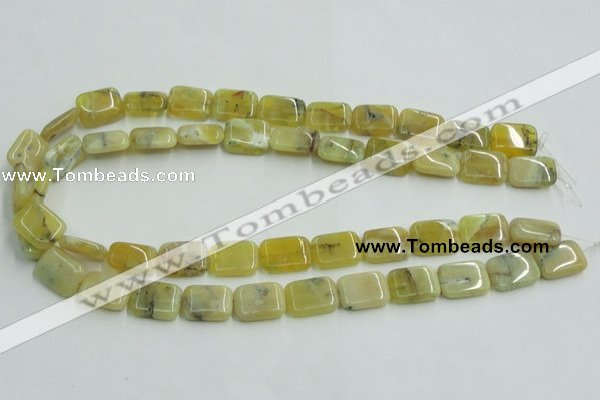 COP373 15.5 inches 13*18mm rectangle yellow opal gemstone beads