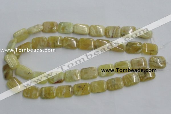 COP374 15.5 inches 15*20mm rectangle yellow opal gemstone beads
