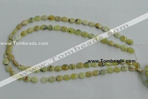 COP375 15.5 inches 8*10mm oval yellow opal gemstone beads wholesale