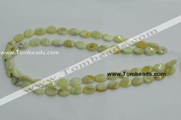 COP376 15.5 inches 10*14mm oval yellow opal gemstone beads wholesale