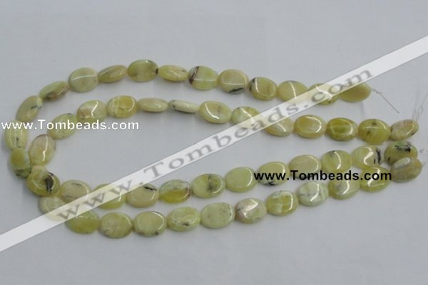 COP377 15.5 inches 12*16mm oval yellow opal gemstone beads wholesale