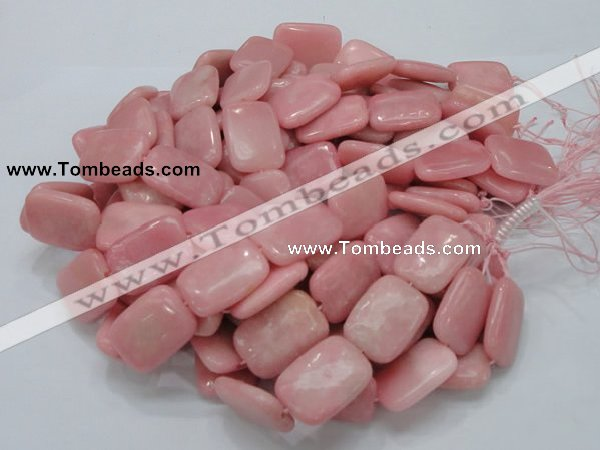 COP428 15.5 inches 20*30mm rectangle Chinese pink opal gemstone beads