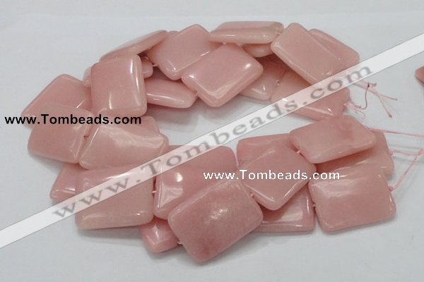 COP429 15.5 inches 30*40mm rectangle Chinese pink opal gemstone beads