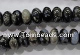 COP471 15.5 inches 8*12mm rondelle natural grey opal gemstone beads