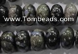 COP472 15.5 inches 10*16mm rondelle natural grey opal gemstone beads