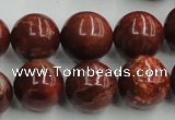 COP515 15.5 inches 16mm round red opal gemstone beads wholesale