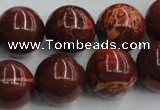 COP516 15.5 inches 18mm round red opal gemstone beads wholesale