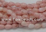 COP54 15.5 inches 5*8mm teardrop natural pink opal gemstone beads