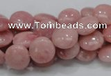COP60 15.5 inches 12mm flat round natural pink opal gemstone beads