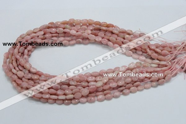 COP61 15.5 inches 6*8mm oval natural pink opal gemstone beads
