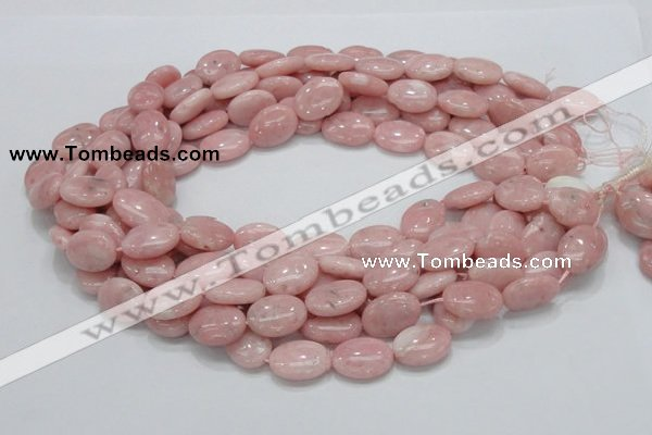 COP65 15.5 inches 14*18mm oval natural pink opal gemstone beads