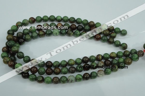 COP653 15.5 inches 10mm round green opal gemstone beads wholesale