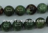 COP654 15.5 inches 12mm round green opal gemstone beads wholesale