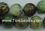 COP655 15.5 inches 14mm round green opal gemstone beads