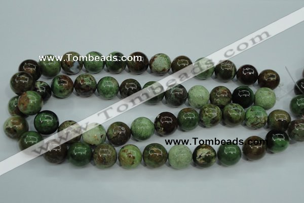 COP656 15.5 inches 16mm round green opal gemstone beads wholesale