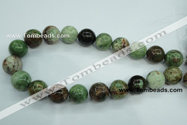 COP658 15.5 inches 20mm round green opal gemstone beads wholesale