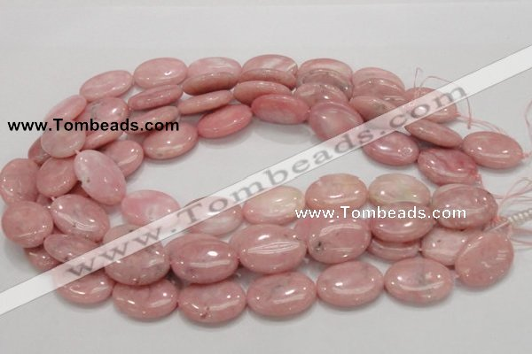 COP66 15.5 inches 18*25mm oval natural pink opal gemstone beads