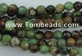 COP661 15.5 inches 6mm faceted round green opal gemstone beads