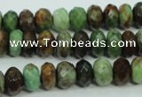 COP670 15.5 inches 6*10mm faceted rondelle green opal gemstone beads