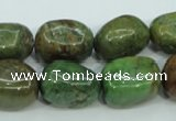 COP672 15.5 inches 12*16mm nuggets green opal gemstone beads