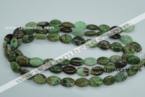 COP678 15.5 inches 13*18mm oval green opal gemstone beads