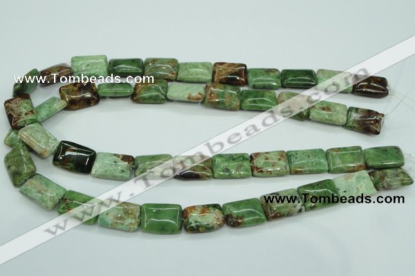 COP688 15.5 inches 13*18mm rectangle green opal gemstone beads