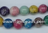 COP854 15.5 inches 10mm round dyed African opal gemstone beads