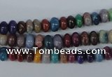 COP859 15.5 inches 3*6mm rondelle dyed African opal gemstone beads