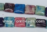 COP868 15.5 inche 12*12mm square dyed African opal gemstone beads