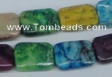 COP869 15.5 inche 13*18mm rectangle dyed African opal gemstone beads