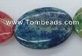 COP872 15.5 inches 25*35mm oval dyed African opal gemstone beads