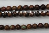 COP951 15.5 inches 6mm round green opal gemstone beads wholesale