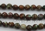 COP961 15.5 inches 6mm faceted round green opal gemstone beads