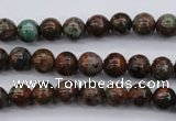 COP985 15.5 inches 6mm round green opal gemstone beads wholesale