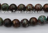 COP987 15.5 inches 10mm round green opal gemstone beads wholesale
