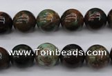 COP988 15.5 inches 12mm round green opal gemstone beads wholesale