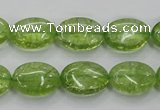 COQ24 16 inches 12*16mm oval dyed olive quartz beads wholesale