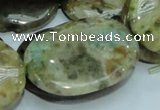 COS07 15.5 inches 25*35mm oval ocean stone beads wholesale