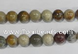 COS162 15.5 inches 8mm round ocean stone beads wholesale