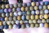 COS311 15.5 inches 8mm faceted round ocean jasper beads