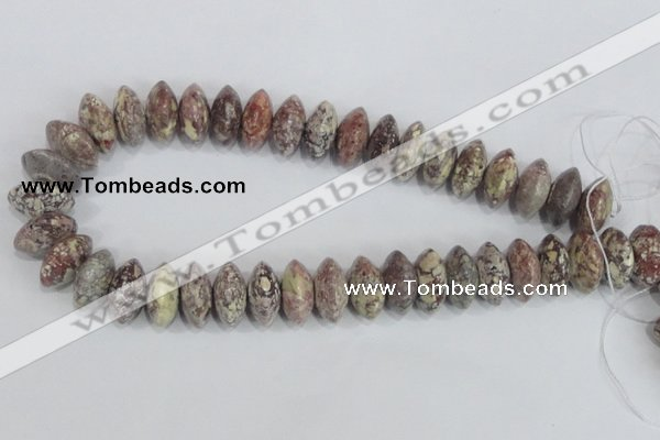 COT08 15.5 inches 10*20mm rondelle osmanthus stone beads