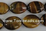COV151 15.5 inches 15*20mm oval yellow tiger eye beads wholesale
