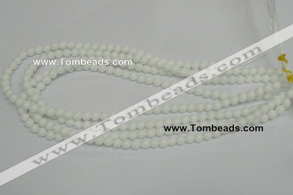 CPB02 15.5 inches 6mm round white porcelain beads wholesale